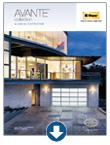 Contemporary garage doors - Avante Brochure